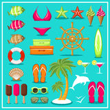 Summer beach set. Royalty Free Stock Images