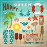 Summer beach set. Stock Photo