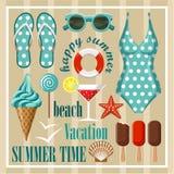 Summer beach set. Stock Image