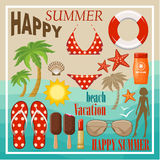 Summer beach set. Royalty Free Stock Photography