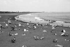 Summer beach / Shonan Coast. In Japan, the school will be a summer vacation between the second half of July and August. So the coast of that period is full of Royalty Free Stock Image