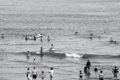 Summer beach / Shonan Coast. In Japan, the school will be a summer vacation between the second half of July and August. So the coast of that period is full of Stock Image