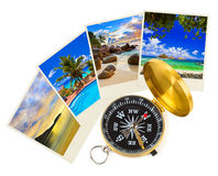 Summer beach shots and compass Stock Images