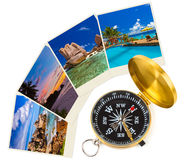 Summer beach shots and compass Stock Image