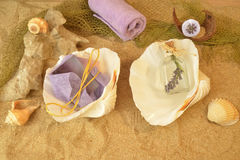 Summer beach spa background Royalty Free Stock Photo