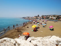 Summer beach in Spain Royalty Free Stock Photo