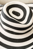 Summer beach striped ladies hat Royalty Free Stock Photos