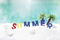 Summer beach, summer season concept Stock Photo