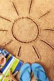 Summer beach sun Stock Photos