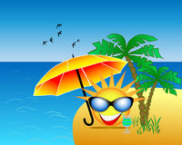 Summer at the beach. The sun is vacationing on the island Royalty Free Stock Photos