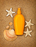 Summer beach - suntan oil Royalty Free Stock Photography