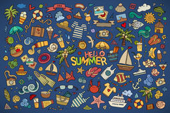 Summer beach symbols and objects Stock Photography