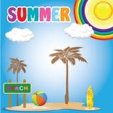 Summer, beach and travel Stock Photo