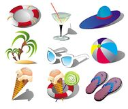 Summer Beach Travel Clip Art Royalty Free Stock Images