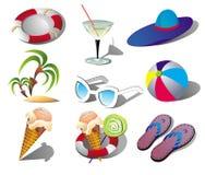 Summer Beach Travel Clip Art vector illustration