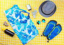 Summer Beach Travel Kit stock image