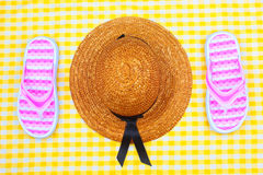 Summer Beach Travel Kit royalty free stock image