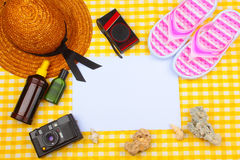 Summer Beach Travel Kit Stock Images
