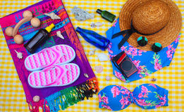 Summer Beach Travel Kit stock photo