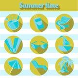 Summer beach travel logo icon Stock Photos