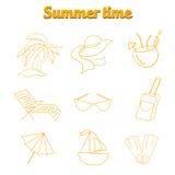 Summer beach travel logo icon vector illustration Stock Photos