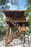 Summer beach tree house on tropical Koh Rong island, Cambodia Royalty Free Stock Photo