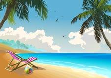 Summer beach. Tropical beach island at summer Royalty Free Stock Images