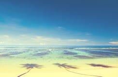 Summer Beach Tropical Paradise Seascape Concept Stock Photos