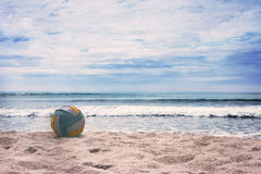 Summer beach with turquoise ocean. Royalty Free Stock Images