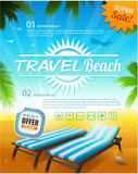 Summer beach vacation background Stock Image