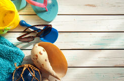 Summer beach vacation background Royalty Free Stock Photo