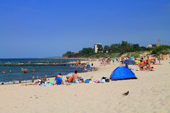 Summer beach vacation on the Baltic coast in Zelenogradsk Stock Photography
