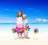 Summer Beach Vacation Happiness Energy Kids Concept Royalty Free Stock Photos