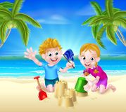 Summer Beach Vacation Kids Royalty Free Stock Photography