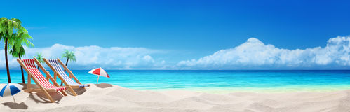 Summer beach vacation Royalty Free Stock Images