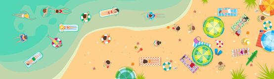 Summer Beach Vacation Seaside Sand Tropical Holiday Banner Stock Photo