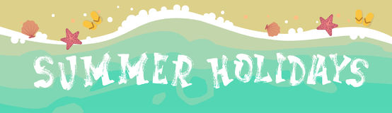 Summer Beach Vacation Seaside Sand Tropical Holiday Banner Royalty Free Stock Photography