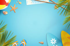 Summer beach vacation travel background image with free space for text Royalty Free Stock Photo