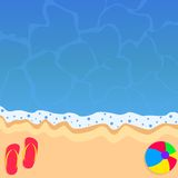 Summer beach vacations background Royalty Free Stock Photo