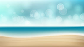 Summer Beach Vector Background. Blur Sea Coast. Outdoor Summer Vacation. Cruise Illustration Royalty Free Stock Image