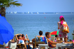 Summer beach view Royalty Free Stock Photo