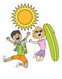 Summer Beach Wear People Stock Photo