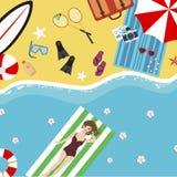 Summer Beach weekend Stock Photo