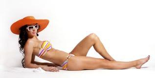 Summer beach woman Stock Image