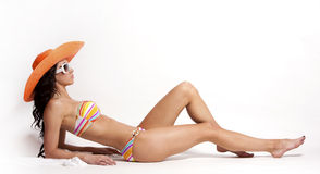 Summer beach woman Stock Photos