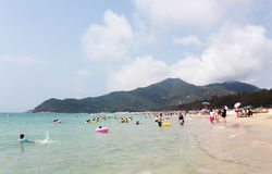 The summer beach. The Xichong Beach be located in Shenzhen China Royalty Free Stock Images