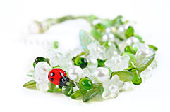 Summer beads Stock Photo