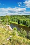 Summer Beautiful landscape. The Chusovaya River Stock Photos