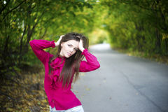 Summer beauty girl in depression Stock Images