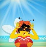 Summer Bee Royalty Free Stock Photo